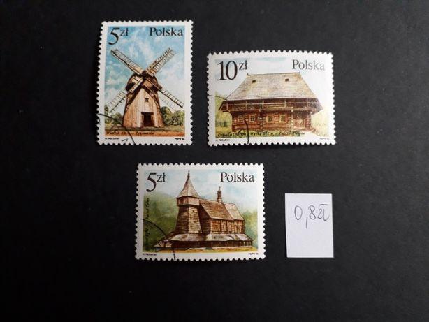 znaczki pocztowe PRL architektura wiejska