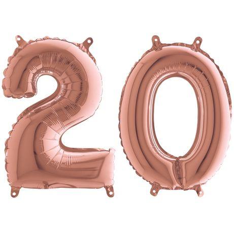 Balony Bałon cyfry cyfra 2 0 20