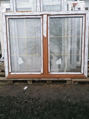 Okno PCV 176 x 137 złoty dąb szpros 180 x 140