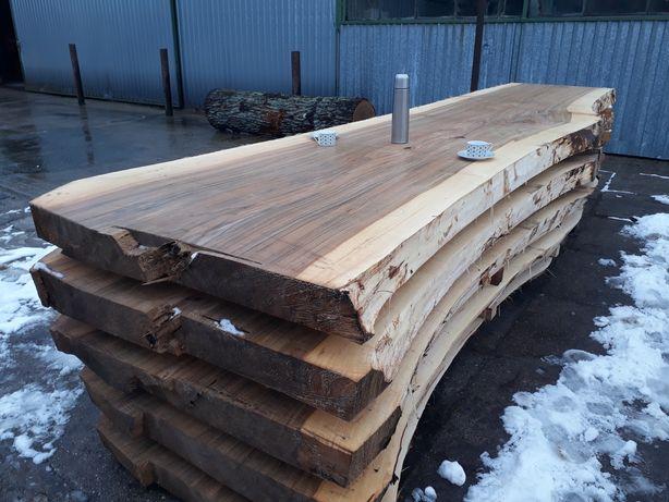 Blat topola, stół konferencyjny, monolit, bal, drewno lite