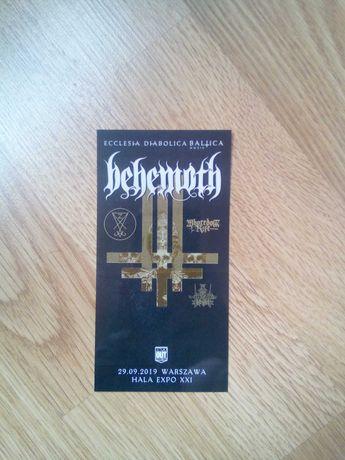 Behemoth - bilet kolekcjonerski z koncertu Warszawa 29.09.2019