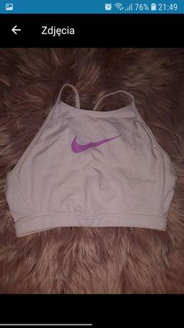 Bluzka damska koszulka top bokserka różowa sportowa Nike fitness S 36