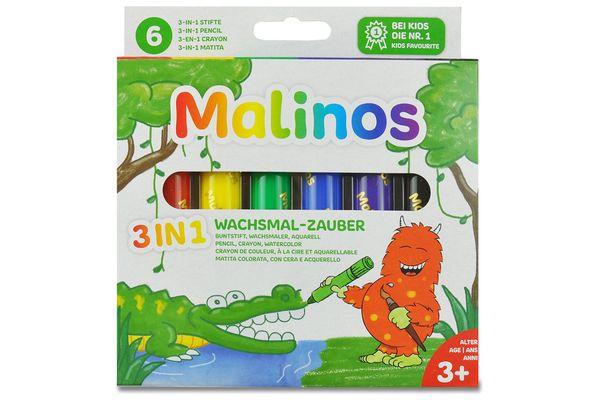 Восковые карандаши мелки Malinos (ЕС, Германия)