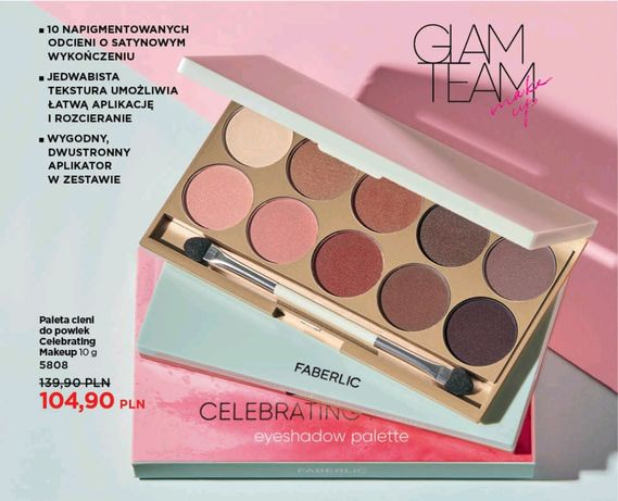 Paleta cieni do powiek Celebrating Makeup Faberlic