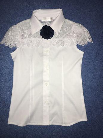 Нарядная школьная блуза 114см