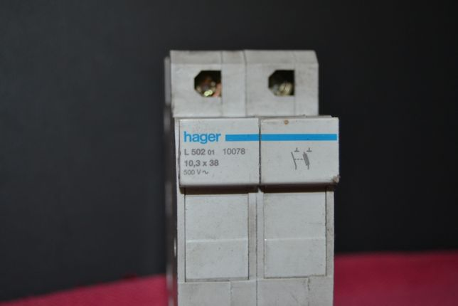 Porta fusiveis Hager