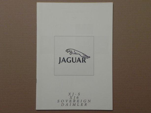 Prospekt - JAGUAR - XJ6 XJ40 / XJ SERIES III / XJ-S - 1989 r