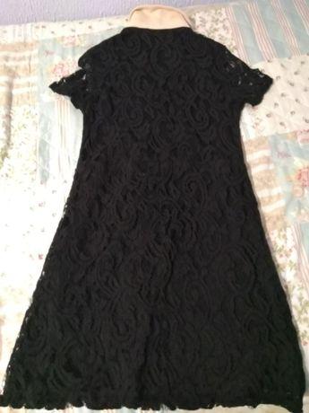 Vestido em renda da zara