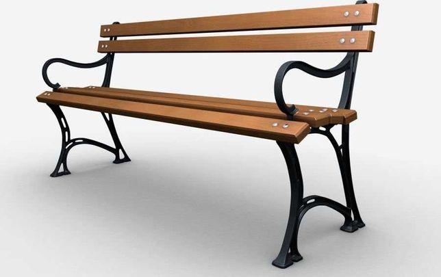 Ławka żeliwna ogrodowa, parkowa na taras id.0120