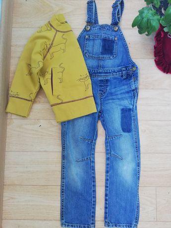 Комбинезон джинсы для девочки. Свитшот. Комплект