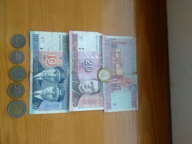 Zestaw banknoty i monety wycofane lity litewskie