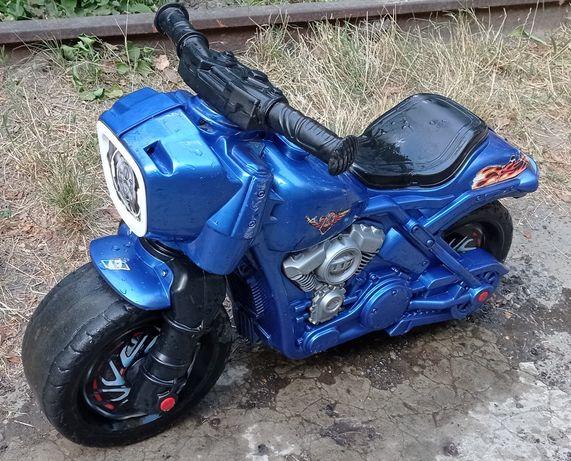 Детский мотоцикл беговел толкатель
