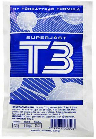 Drożdże gorzelnicze Turbo T3 Mocne Niebieskie 7 kg Szwedzkie