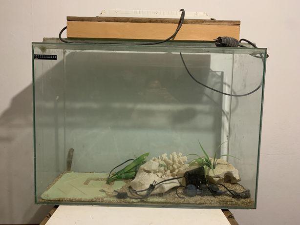 Aquario grande em vidro