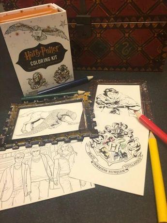Harry Potter - conjunto para colorir - NOVO - PORTES GRÁTIS