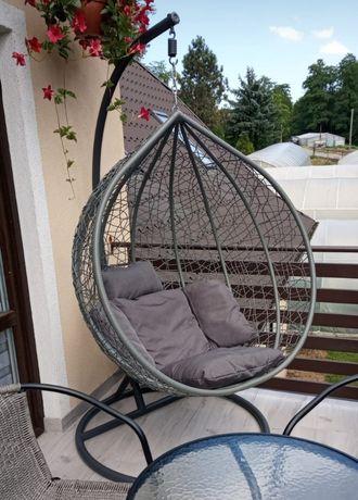 Fotel wiszący ogrodowy , Huśtawka, Kokon,Kosz bujany , poduszki , XL
