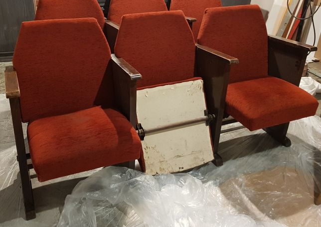 Stare fotele kinowe , fotele kinowe
