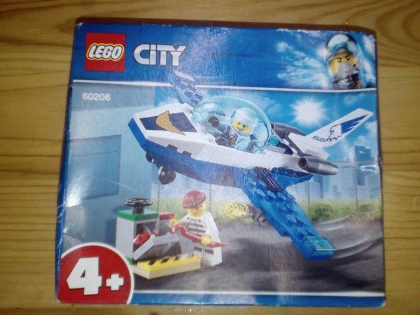 Конструктор оригинал Lego city 60206 патрульный самолет