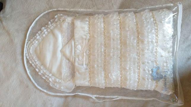 Конверт,одеяло для выписки с рот дома.