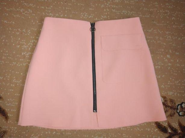 Стильная коротенькая юбка topshop petite с необработанным краем и нак