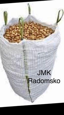 Worki Big Bag Bagi wentylowane Raszlowe 182cm 1100kg Ziemniak Cebula