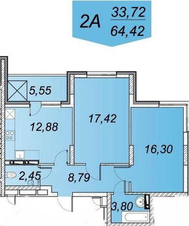 Суперпредложение -2ка новый дом -68м.кв- Ясиноватский 10, ЖК The Lakes