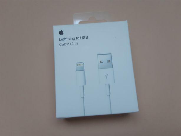 Kabel Lightning to USB do iPhone NOWY długość 2 metry NOWY
