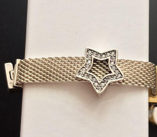 Gwiazda nowy srebrny Charms do bransoletki Pandora Reflexions