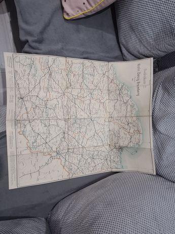 Mapa danzig koslin bromberg posen