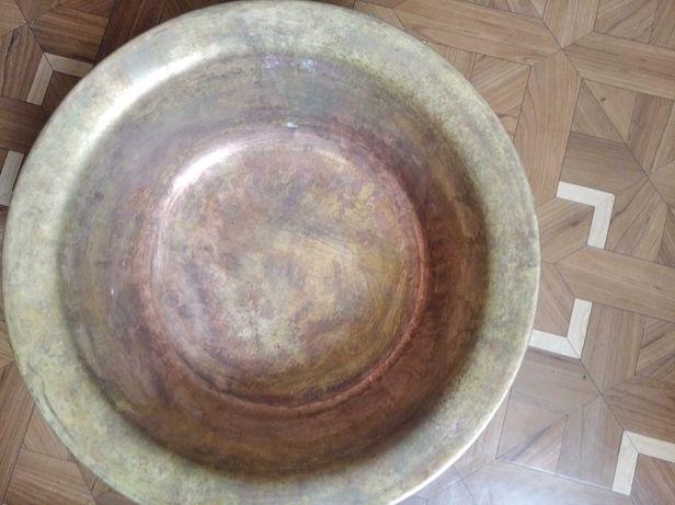 Большой латунный(медный)таз миска СССР для дома,варенья,дачи или бани.