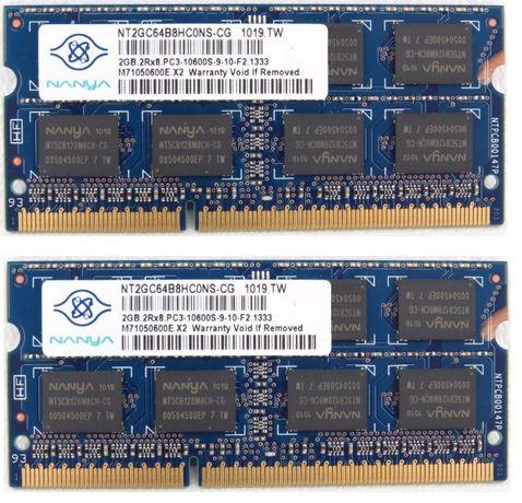 Kit 4GB DDR3-1333 Memórias p/Portatil