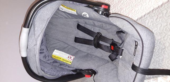 Fotelik 0-13 nosidełko GRACO SNUGRIDE 35 szary siwy baza click connect