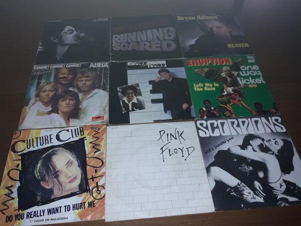 Discos de vinil músicas dos anos 80 e 90