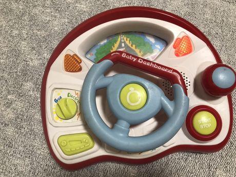 Музыкальный интерактивный руль baby dashboards
