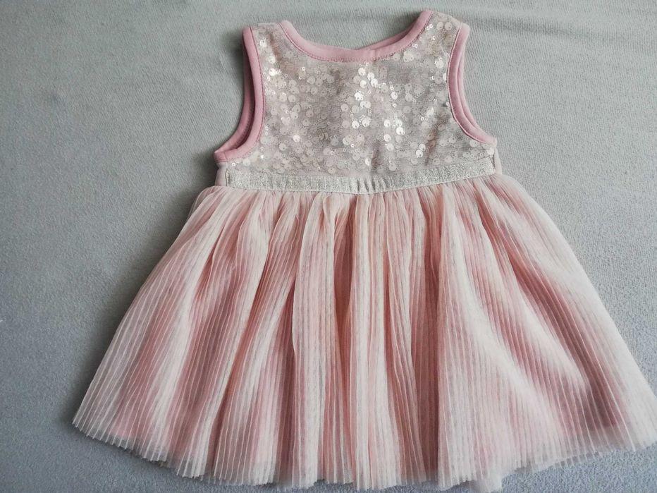 Śliczna sukienka dla dziewczynki 6-9 miesięcy Sanok - image 1