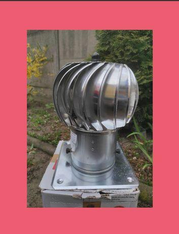 Nasada  kominowa,kulista obrotowa,,aluminiowa z podstawą 150