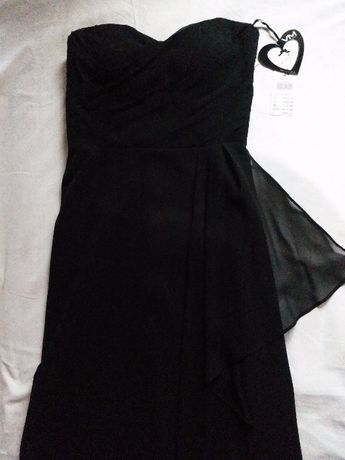 Elegancka suknia wieczorowa czarna -60% Vera Mont