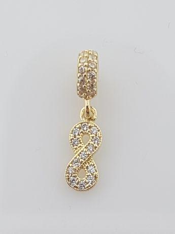 Złoty element charms na bransoletkę Pandora 14k.Nowy (344)