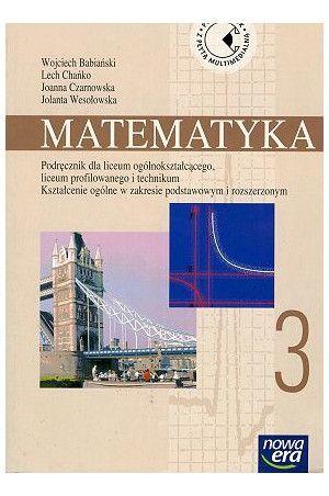 podręcznik do liceum Matematyka 3, W. Babiński i in.
