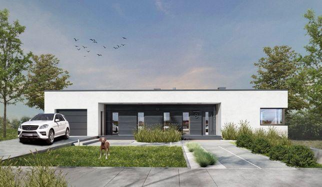 Dom jednorodzinny parterowy 125 m2 z garażem w bryle Włocławek