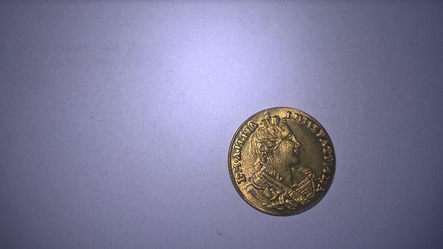 Carska Rosja z 1730 moneta RANT