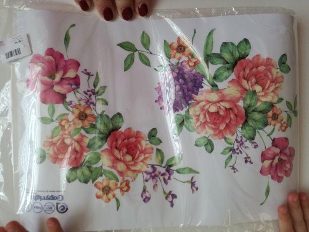 Naklejka kwiaty 2 naklejki dekoracyjne dekoracja