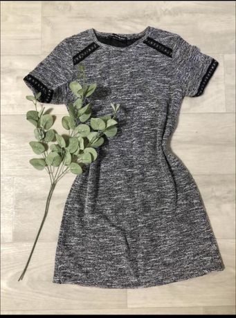 Платье серое черное 10 p.