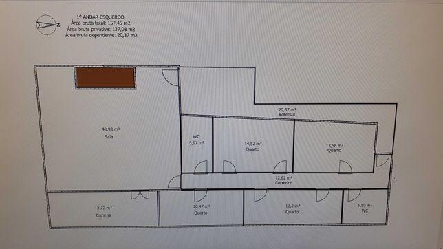 Apartamento T4 em Travanca do Mondego, arrendamento