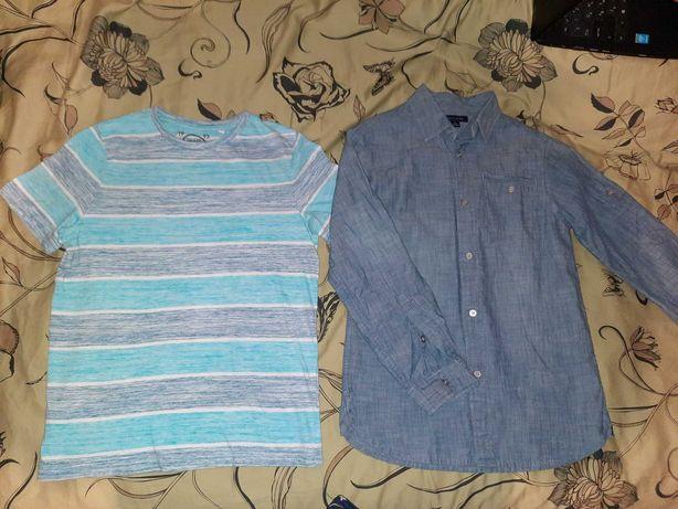Рубашка тениска джинсовая  Tommy Hilfiger 140 146 152 футболка C&A