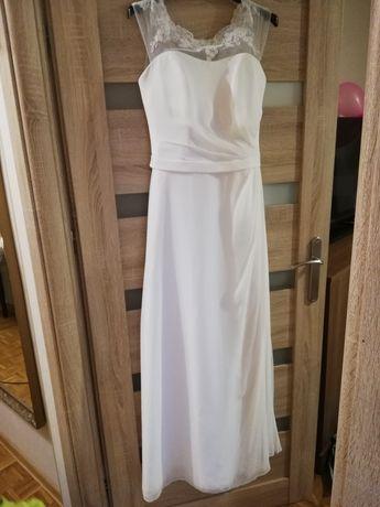 Suknia ślubna 38, klasyczna, prosta