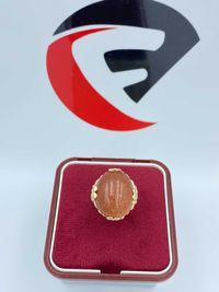 Złoty pierścionek piasek pustyni