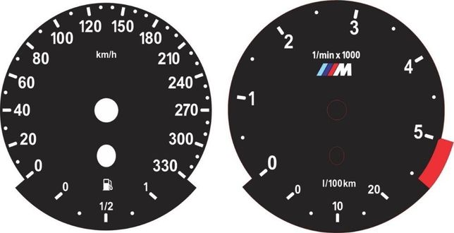 BMW Европейские шкалы E60 E61 E70 E71 E90