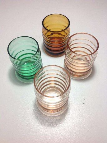 4 Copos de shot coloridos