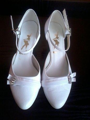 Buty ślubne, rozmiar 36, białe